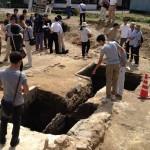 窯跡発掘調査の見学会へ行ってきました